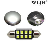 Wholesale Bmw E39 License Plate Light - WLJH LED 36mm C5W CANbus C5W Bulbs 2835SMD Interior Lights License Plate Light For BMW E39 E36 E46 E90 E60 E30 E53 E70