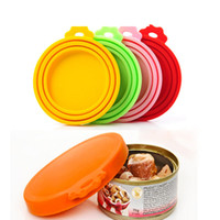 Pet Food Can Cover Silicone Can Lids for Dog and Cat Food Universal Size Fit 3 Standard Size Food Cans BPA Free