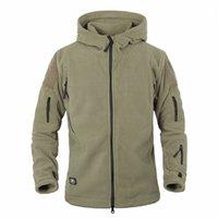 vestuário militar para homens venda por atacado-Homens militares Fleece Tactical Jaqueta de casca mole Polartec Polar Com Capuz Térmico Casaco e Casaco Roupas Masculinas AG-YCIDL-001