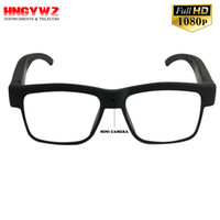 Wholesale Camcorder Video Glasses - HD1080P recording video plain glass spectacles Camera smart glasses Mini Camcorders glasses outdoor cycling camera