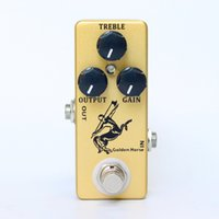 impulso para la guitarra al por mayor-Mosky Audio Golden Horse Pedal de efecto de guitarra Overdrive Boost MINI Klon Centaur