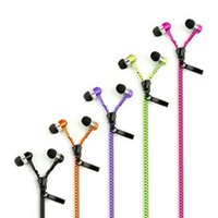 Wholesale green mp3 mp4 player for sale - Group buy Wired Earphone Metal Zipper Wired Earphone mm In Ear Ear Phones With Microphone Stereo Bass Earbuds For Phone MP3 MP4 Music Player