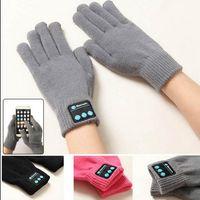 bluetooth hoparlör ekranı toptan satış-Kablosuz Bluetooth Eldiven Kadın Erkek Örgü Giyilebilir Akıllı Bluetooth Müzik Kulaklık Hoparlör Sıcak Eldivenler Dokunmatik Ekran Eldiven OOA3890