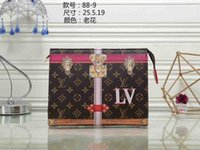 Wholesale rhinestone cross wallet - classic Storage bag famous brands Old flower clutch Printed handbag top quality canvas evening package luxury wallet Mobile phone bag Wallet