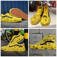 snoopy pvc al por mayor-vans old skool 2019 nuevos Peanuts para mujer zapatos de skate de lona Snoopy Cartoon Comic Old Skool de tiro alto para deslizamiento en zapatillas de deporte Casual Sneakers