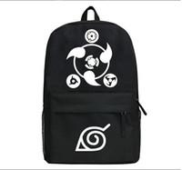 backpack naruto UK - Naruto Sharingan Logo Cosplay Backpack Laptop Bag SchoolBag
