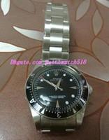relógio de marca prata venda por atacado-Relógios de luxo de qualidade superior de prata preto relógio de cristal de safira CONDIÇÃO de marca de moda automática dos homens relógio de pulso