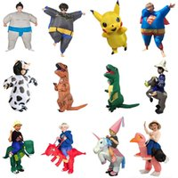 Wholesale batman costume game - Batman Inflatable Costume Kids Dino Horse Unicorn Pikachu Halloween Costume For Adult Anime Masquerade Cosplay Movie Party Dress