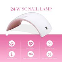 ingrosso gel di luce rosa-24W LED UV Lampada UV Gel Nail Dryer Bianco Rosa Nail Lampada LED Light Curing Gel Polish Art Macchine utensili