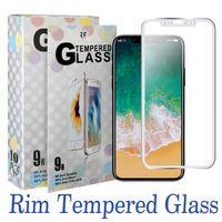 iphone ekran koruyucusu tasarımları toptan satış-Temperli cam tam kapak ekran koruyucusu ultra- ince 3d kavisli kenar titanium alaşım tasarım iphone xs max xr 8 paket