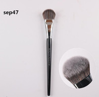 Wholesale highlight hair - dhl shipping Top Quality Angled Pro Foundation Brush Highlight Beauty Cosmetics Makeup Brushs