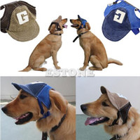 Wholesale dog sunglasses free shipping for sale - hot New Coming Canvas Summer Small Pet Dog Cat Baseball Visor Hat Puppy Cap Outdoor Sunbonnet