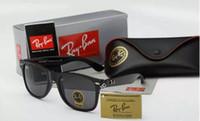 Wholesale Fashion Rays Sunglasses Men Women Sun Glasses Brand Designer Justin Mirror Gafas de sol Bans Designer Male Eyewear with cases online