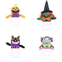 brinquedo plástico de abóbora venda por atacado-New Bonito Simples Abóbora Boneca Cubo De Plástico Caixas De Doces de Halloween Fontes Do Partido Caixa De Embalagem Do Presente Crianças Brinquedos
