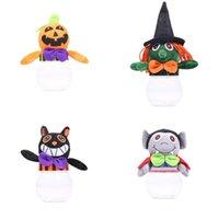 ingrosso giocattolo di zucca di plastica-Nuovo carino semplice zucca bambola cubo di plastica scatole di caramelle rifornimenti del partito di halloween scatola di imballaggio regalo giocattoli per bambini