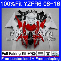 Wholesale r6 fairing injection for sale - Group buy Injection For YAMAHA YZF600 YZFR6 YZF HM white red hot YZF R YZF R6 YZF R6 Fairings