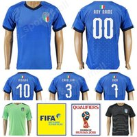 Wholesale italy world cup jerseys - Italia Football Shirt 2018 World Cup Italy Soccer Jersey 21 Andrea Pirlo 1 Gianluigi Buffon 9 Mario Balotelli 10 Francesco Totti Thai Blue