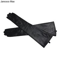Wholesale sexy gloves men resale online - Jancoco Max Women s Long Genuine Sheepskin Leather Gloves High Quality Sexy Evening Party Mittens S2064