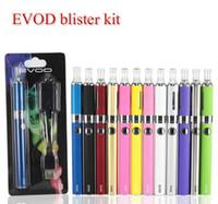 sigarayı atma tankları toptan satış-Evod MT3 blister başlangıç kitleri E-sigara kiti mt3 tankları e sigara EVOD atomizer Clearomizer Evod pil elektronik sigara vape kalem