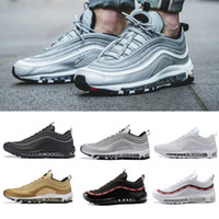 Wholesale run fly - Best New Mens Sneakers Shoes 97 Undefeated x OG Running Shoes Black White Trainer fly Cushion Breathable Man Walking Sports Shoes