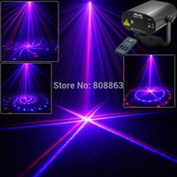 Wholesale Dj Laser Systems - New 8 Patterns Blue 200mw projector Remote Red Laser Stage lighting Disco Dance Party Light Show system DJ business Lights cb8