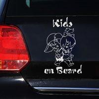 забавный автомобиль предупреждающие наклейки оптовых-Car-covers аксессуары смешные украшения наклейки мультфильм предупреждение наклейка дети на борту стайлинга автомобилей милый автомобиль наклейки