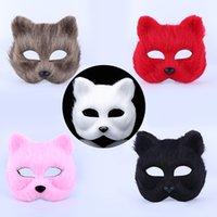 ingrosso maschere animali-Maschere di festa mascherata di Halloween maschera mezza maschera di animali maschera di volpe sexy pelosa mascherata mascherate