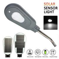 wandhalterungen leuchten großhandel-40W / 60W 82LED Solar-PIR-Bewegungs-Sensor-Straßenlaterne mit Klammer-wasserdichter im Freienwand-Lampen-Sicherheits-Stellen-Beleuchtung
