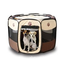 outdoor play mats 2018 - Pet Beds For Dog Tent Sleeping Fence Puppy Kennel Folding Exercise Play Foldable Pet Dog House Outdoor Tent Bag Portable Folding