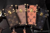 Wholesale iphone cases print - Luxury brand printed leather texture case for iphone X 7 7plus 8 8plus all-inclusive shatter-resistant back cover for iphone 6 6S 6plus