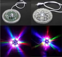 música laser venda por atacado-Magia UFO LED Música A Laser Iluminação de Palco Auto Operado Por Voz Disco Dançando Palco Deslumbrar Luz Portátil Decoração de Jardim 8kd hh