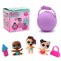 Wholesale sister girls - Mini Surprise Doll Series 2 LiL Sisters Action Figures 7.5CM Ball Surprise Dolls Dress Up Baby Spray Water Dolls Toys for Kids