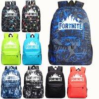 erkek sırt çantası okul çantası toptan satış-Fortnite Erkek Kız 'Sırt Çantaları Casual Gençler Sırt Çantası Açık Havada Çanta Öğrencileri Okul Çantası Su Geçirmez Büyük Kapasiteli 13 Renkler 47 * 31 * 18 cm