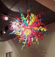 leuchtende kronleuchter großhandel-Fabrik-Modern Schlafzimmer Deckenleuchte Bunte Dale Chihuly hängende Glas Kunst Lampe Chihuly Stil Kronleuchter