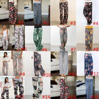 Wholesale xxxl yoga pants resale online - Yoga Fitness Wide Leg Pant Women Casual sports Pants Floral Print Harem Pants Palazzo Capris Lady Trousers Loose Long pants GGA1020