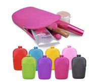 кошельки новизны подарочные пакеты оптовых-Candy Color 1PCS Women Novelty Silicone Case for Mini Things Bag Coin Purse Key Wallet Gift