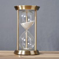 украшения для часов оптовых-Творческие металлические песочные часы 60 минут Colores песок часы День рождения Рождество День Святого Валентина свадебный подарок украшения дома 17 см*32 см