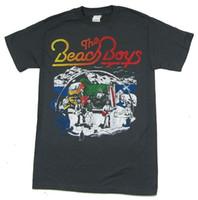 resimleri yeni gömlekler toptan satış-Plaj Boys Çizgi Çizim Sahne Görüntü Gri T Gömlek Yeni Resmi Bant Merch