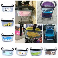 Wholesale Print Bags Wholesale - Baby Stroller Bag Diaper Organizer Maternity Mummy Bag Baby Waterproof Folding Nappy Bags With Large Capacity DDA482