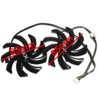 ventiladores de enfriamiento gpu al por mayor-Repairist 2Pcs / set GTX1060 / 1070 GPU Ventilador de tarjeta VGA Cooler para tarjeta gráfica MAXSUN GTX1070 GTX 1060 como reemplazo