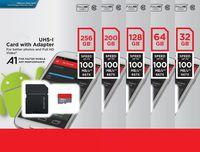 tarjeta micro sd uhs al por mayor-NUEVO Ultra A1 32GB 64GB 128GB 200GB 256GB Tarjeta Micro SD SDHC Tarjeta de 98MB / s UHS-I C10 SDXC con adaptador