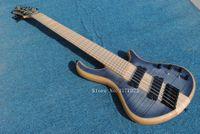 akçaağaç elektrik bas parmak izi toptan satış-Mayones özel bas gitar 6 dize fanones fret frets elektrik bas gitar Akçaağaç klavye boyun vücuttan ücretsiz kargo ile