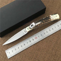 Wholesale Single Cut - Italy AKC Italian Knife 7.7 inch D2 Tool Steel Blade single automatic knives Cutting Tools Survival Tactical Knife sog Gift Knives