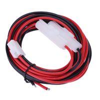 güç dc kablo türleri toptan satış-ALOYSEED 3 M 9.84FT Araba DC Güç Kablosu Mobil Radyo T-Tipi Tak Yaesu Için Araba Radyo Kablosu FT-7900/7800/8800/8900/1907/1807
