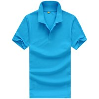 orange polo-stil hemden großhandel-Designer Polo Shirt Männer Kleidung Kurzarm T-Shirts für Frauen Sommer Style Classic Tops Blau Schwarz Weiß Einfarbig