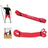 crossfit bande rouge achat en gros de-Fitness Supplies Yoga Rayures Latex Crossfit Résistance Bandes Fitness Body Gym Power Entraînement Powerlifting Pull Up Rouge