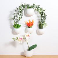 ingrosso pot di decorazione di fiori artificiali-2018 New Magnetic Artificial Plant Vaso 3D Frigo Sticker Magneti Frigo Frigorifero Decorazione Home Decoration Accessorio