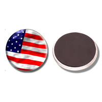 Wholesale page flags - American Flag 30MM Fridge Magnet USA Flag Patriotic Harvard Glass Cabochon Magnetic Refrigerator Stickers Note Holder Home Decor