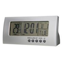 настольные часы оптовых-Mayitr Modern Digital Alarm Clock Battery Clock LCD Display Calendar Snooze  Kids Table Clocks