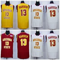 Wholesale Sun Dry - 18 New Mens Arizona State Sun Devils College Basketball Jerseys #13 James Harden chris paul 3 City Edition Stitched Throwback Jersey